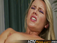 Blonde Babe In Stocking Cherry Jane Deep Throats