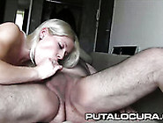 Pretty Blond Haired Chick Rides Big Cock Of Plump Kinky Guy In C