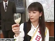 Japanese Girl Drinking Sperm From Glass