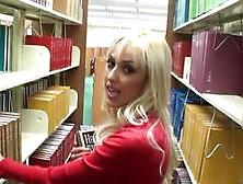 Slutty Bookworm Girlfriend Fucked In The Library In Pov Vid
