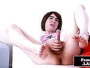 Nextdoor Tgirl Trap Solo Pumping Her Cock
