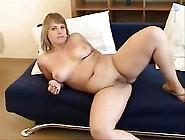 Chubby Blonde Teen Strips