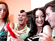 Melissa Lauren And Amber Rayne Get Their Cunts Banged By Two Bas