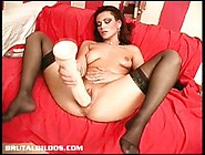 Amateur Babe Rams Her Huge Dildo Deep In Her Warm Pussy