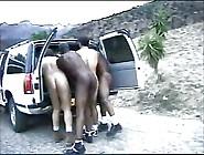 Horny Blonde Interracial Gangbang
