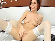 Bigtitted Undies Scarlet Head Fingering Her Clitoris