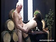 Beauty And The Senior -Hot Brunette Teen Gets Fucked By Old Guy