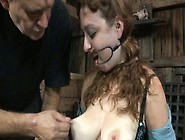 Kinky Red Head Gets Her Boobs Punished