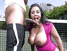Busty Milf Kiara Mia Knows Proper Cock Sucking During This Sunny