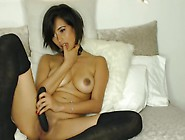 Solo Masturbation With Big Titted Babe