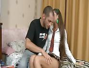 Teen Girl Kisses Lips Of Her Boyfriend