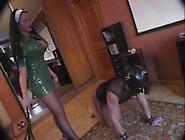 Femdom Lady Krista - Green Latex