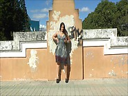 Latin Girl Outdoor Flash And Play