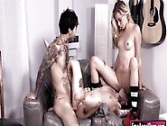 Tight Blonde Emo Chick Haley Reed Fucked By Goth Couple