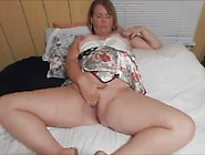 Hefty Mature Wife Masturbating For Her Lover