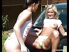 Teens Washing A Car