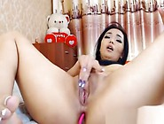 Solo Small Tit Asian Girl Toying Her Pussy With Vibrator