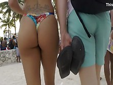 Big Topless Boobs On The Beach