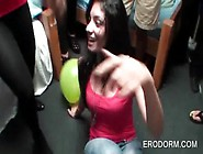 Excited College Chicks Having Fun At Dorm Room Fuck Party