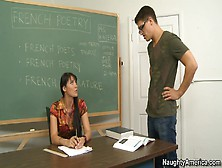 Hot Teacher Eva Karera Gives Explicit Classroom Lessons