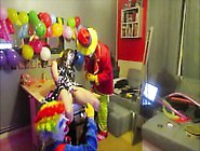 Threesome 2 Clowns Torture A French Camgirl Ohmibod & Punish Twi