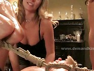 Two Horny Midage Mistress Take Advantage Of Tied Up Young Slave