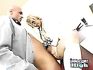 Petite Blonde Asian Kat Kiss Gets Her Tight Pussy Rammed By Her