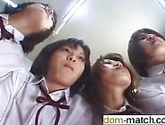 Write Me At Dom-Match. Com - Four Japanese School Girls Spitting