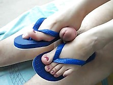 Soft Shoe And Ankle Job With Flip Flops