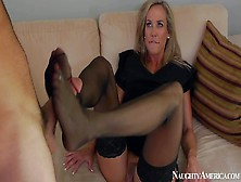 Tanned Blonde Cougar Brandy Love With
