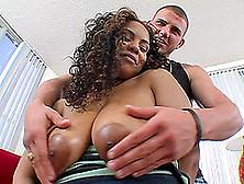 Beautiful Ebony-Skinned Girl With Big Nipples Enjoying A Hardcor