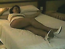 Kinky Amateur Brunette Wife With Big Rack Went Solo And Masturba