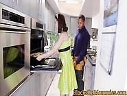 Busty Interacial Housewife Trio With Handymen