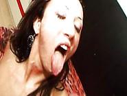 Italian Girl Enjoys Bukkake Facials