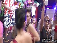 Dancing Glam Girls Party With Lesbians In A Packed Club