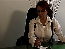 Lesbian Boss Punishes Her Secretary For Her Mistakes