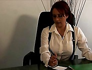 Lesbian Boss Punishes Her Secretary For Her Mistakes