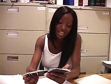 Gorgeous Black Babe Taking Dick