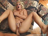 Blonde Tramp Takes Care Of Her Lover's Big Dick During A Pov Ban