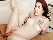 Juicy Redhead Whore Bends Her Big,  Beautiful Ass Over To Get Ham