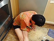 Drunk Girl Pukes All Over The Floor