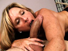 Buxom Mom In Black Stockings Jodi West Fucks A Young Stud's Hard