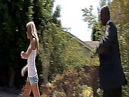 Hot Skinny Blonde Bitch Gets Fucked Hard By Her Black Step Dad