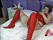 Chubby Wife In Red Boots