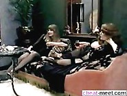 Vintage German Girls Eat Hairy Pussy In A Threesome