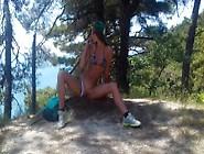 Hot Masturbation In The Mountains Overlooking The Sea (Sasha Bik