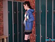 Cheerleader Rihanna Is Stripping In The Locker Room