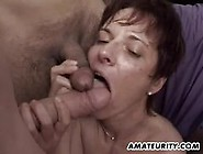 Amateur Girlfriend Showered With Thick Cum