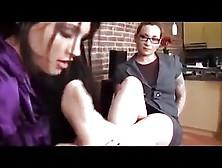 Lesbian Boss Foot Worship