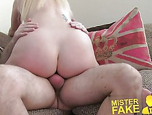 Misterfake Tall Blonde Milf Craves Hard Cock In Fake Castin